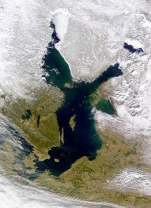 Zdjęcie satelitarne Bałtyku