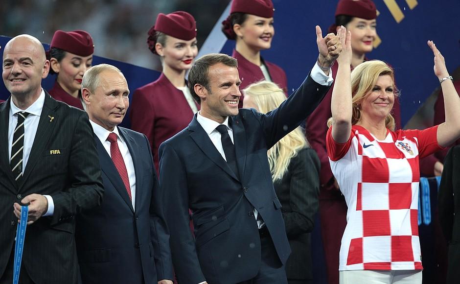 Grabar-Kitarović podczas mundialu w Rosji.