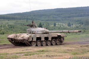 W późniejszym czasie Czechosłowacja rozpoczęła produkcję czołgów T-72 (widoczny na zdjęciu)