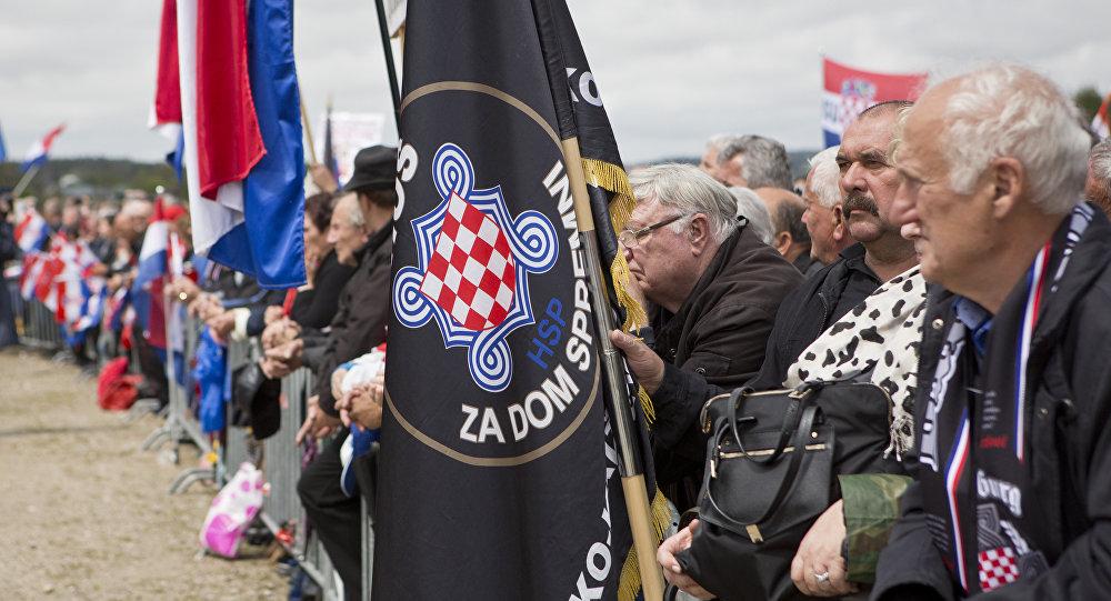 Obchody masakry w Bleiburgu są przepełnione neonazistowską symboliką.