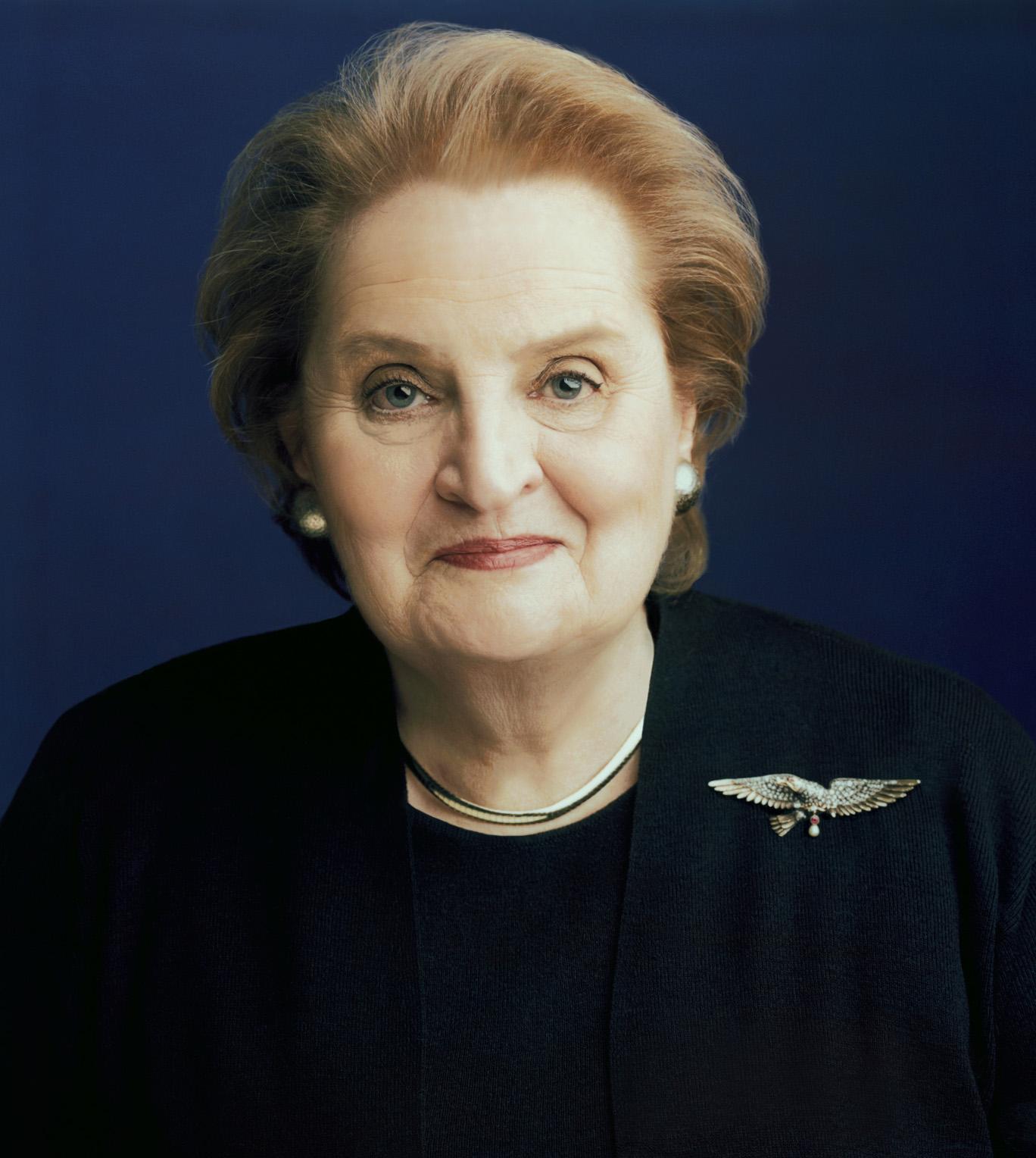 Madeleine Albright - amerykańska sekretarz stanu podczas prezydentury Billa Clintona