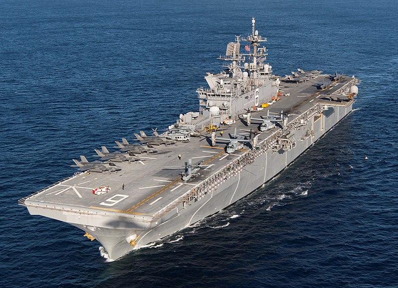 Uniwersalny okręt desantowy/pływające doki/śmigłowcowec USS America (LHA-6) typu America