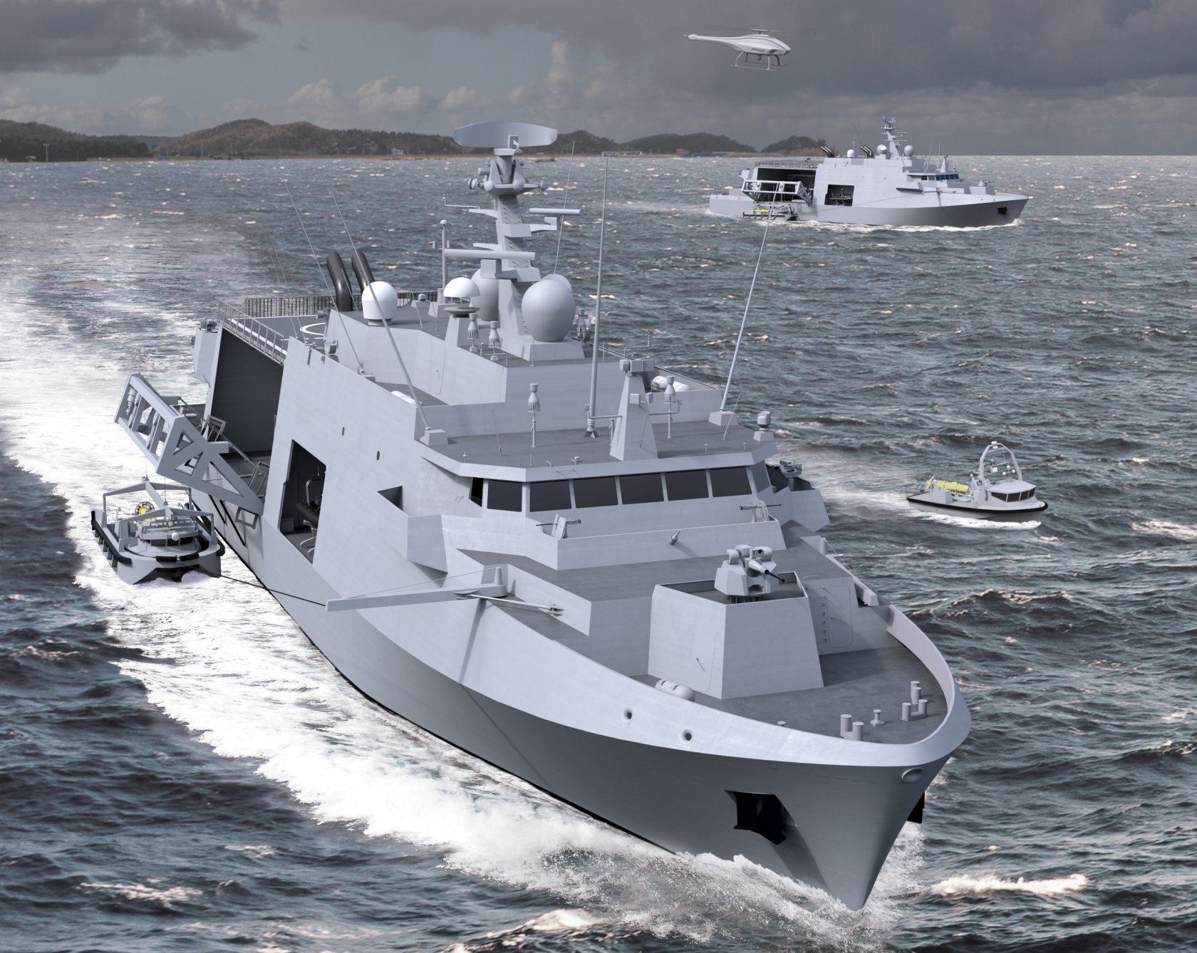 Wizualizacja nowego okrętu MCMV dla Marynarek Wojennych Holandii i Belgii