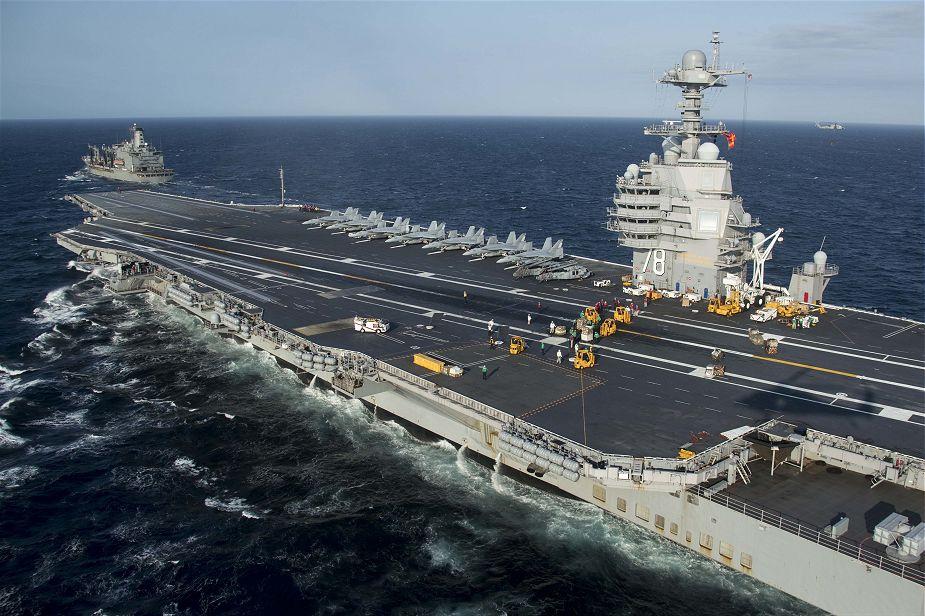 Największy i najnowocześniejszy na świecie lotniskowiec USS Gerald R. Ford (CVN-78) typu Gerald R. Ford