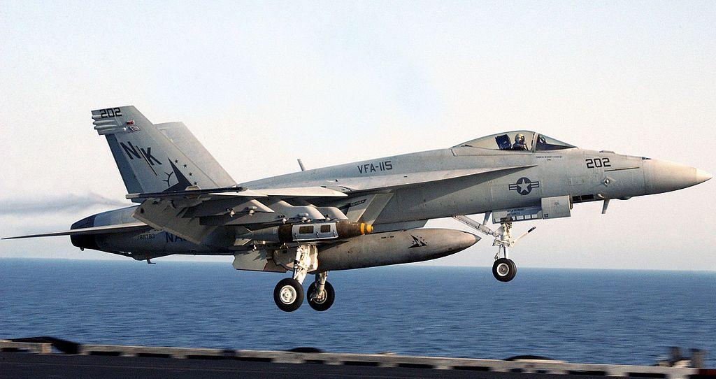 Na zdjęciu F/A-18E Super Hornet startujący z pokładu lotniskowca